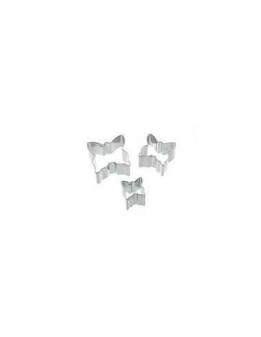Set 3 Cortadores mini con forma de mariposa