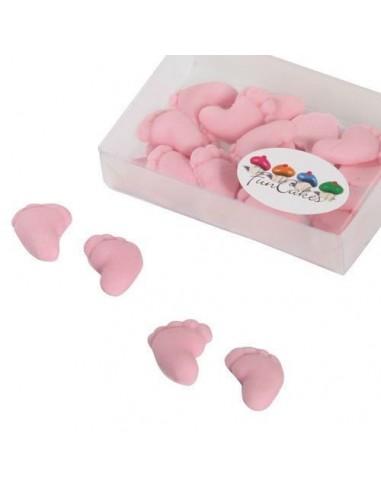 FunCakes Piececitos de Bebé Pasta de Azúcar Rosa