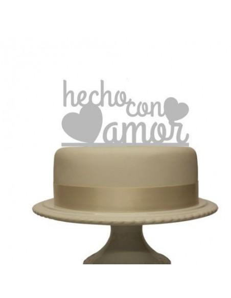 Topper cake hecho con amor