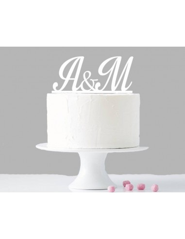 Topper cake iniciales