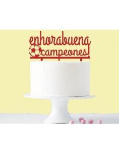 Topper cake enhorabuena campeones