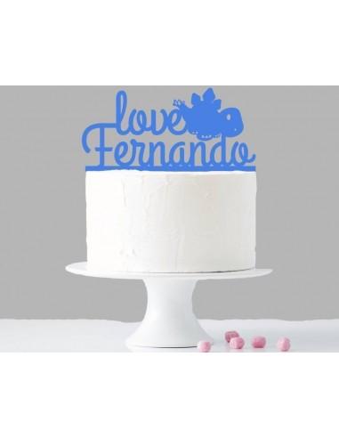 Topper cake dinosaurio personalizado