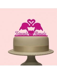 Topper cake flamencos personalizado