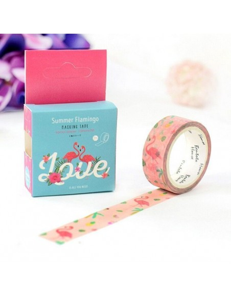 Washi tape flamencos