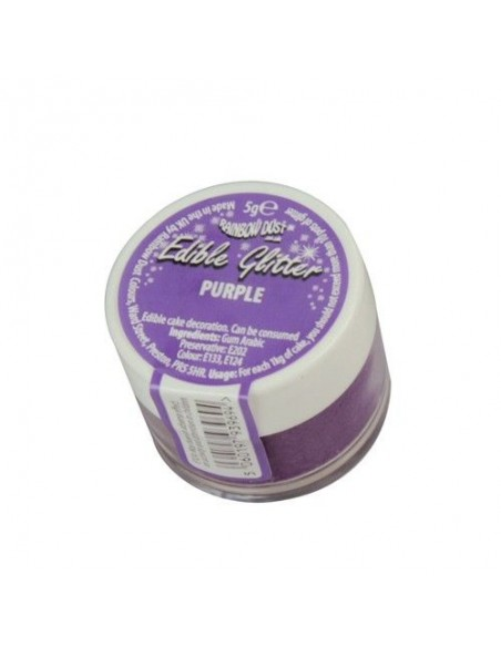Purpurina Comestible Púrpura Rainbow Dust