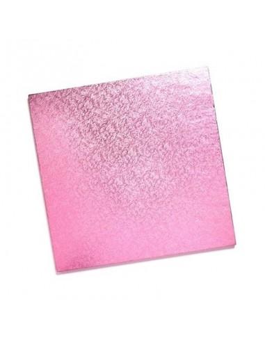 Base Tarta Cuadrada rosa