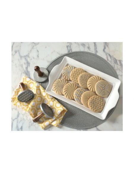 Sellos para galletas Geo Cookie Stamps Nordic Ware