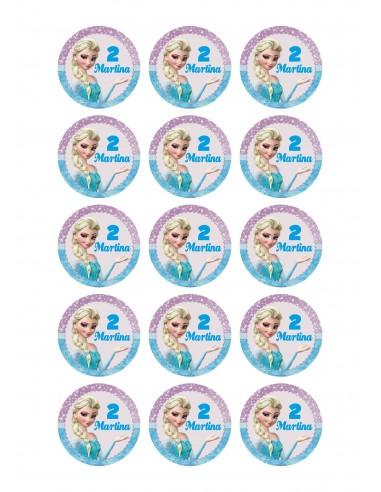 Papel de azúcar Frozen para galletas personalizadas