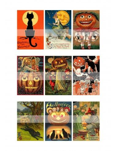 Papel de azúcar Halloween retro