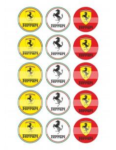 Papel de azúcar Ferrari para galletas