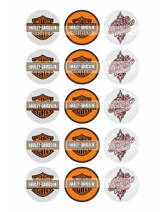Papel de azúcar Harley Davidson para galletas