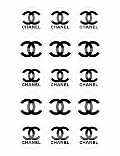 Papel de azúcar Chanel para galletas
