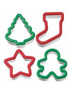 Set 4 cortador navideños Wilton comfort grip
