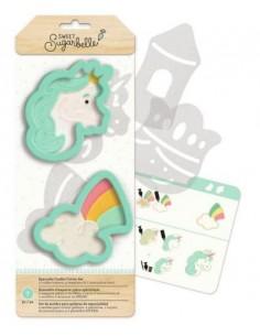 Cortadores unicornio y arcoiris Sugarbelle