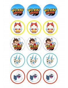 Papel de azúcar Yokai Watch