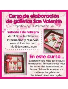 Curso de elaboración de galletas San Valentín