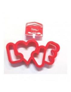 Cortador love plástico