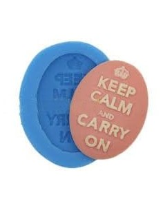 Molde Silicona Camafeo Keep Calm and Carry On