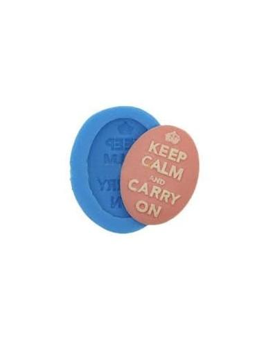 Molde Silicona Camafeo Keep Calm and Carry On