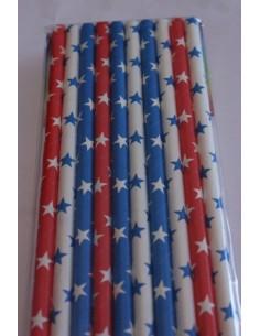 Pajitas de papel estrellas variadas