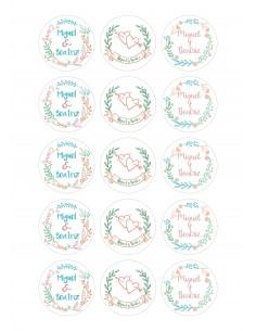 Papel de azúcar boda floral