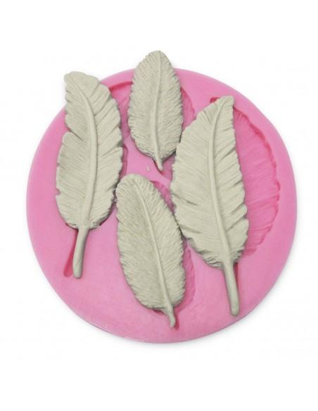 Molde de silicona plumas