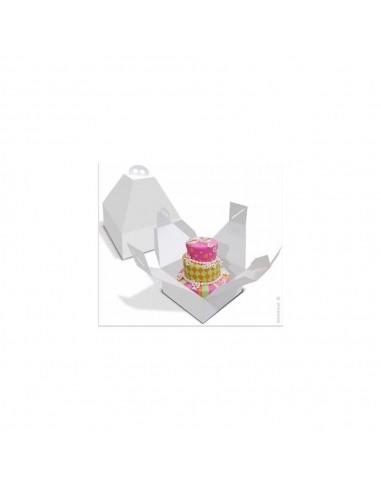 Caja para tarta con asa