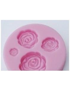 Molde Silicona Rosas