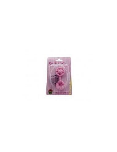 Molde de silicona en forma de flor + cortador