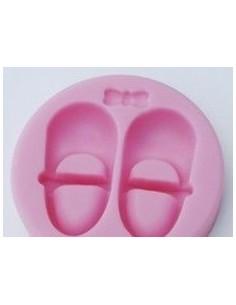 Molde Silicona Zapatos y lazo