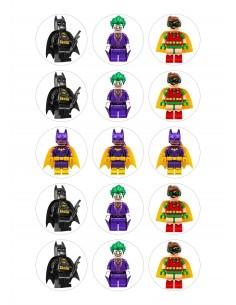 Papel de azúcar Batman Lego para galletas