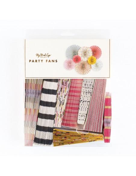 Abanicos de papel estampados