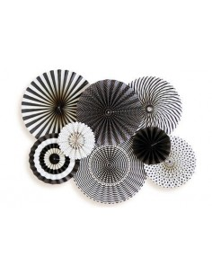 Abanicos de papel negros