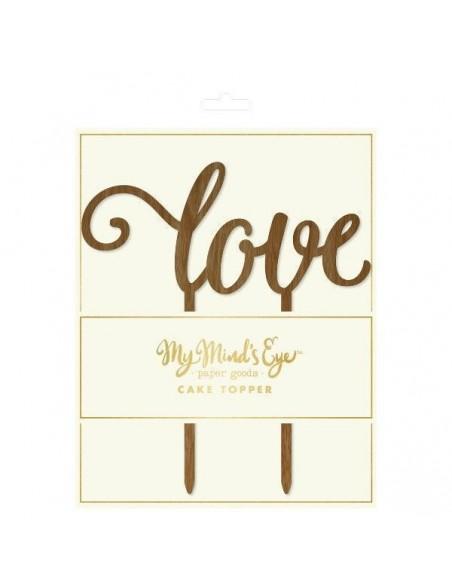 Topper love madera