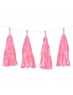 Guirnalda flecos rosas