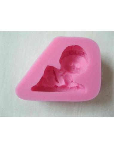 Molde de silicona de bebe gateando