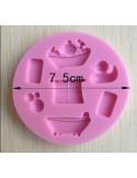 Molde de silicona baño y bebe