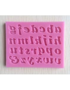 Molde de silicona letras minúsculas