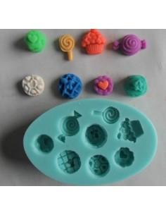 Molde de silicona golosinas