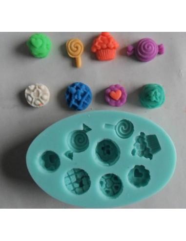 Molde de silicona cupcakes variados