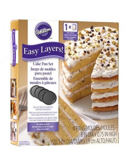 Set 4 moldes layer cake Wilton