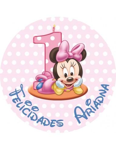 Papel de azúcar cumpleaños niño Mickey bebé