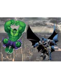 Papel de azúcar super héroes Batman Hulk