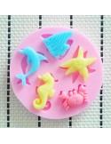 Molde de silicona animales mar
