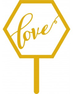 Topper Hexagonal Love