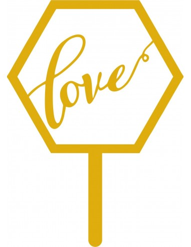 Topper Hexagonal Love