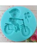 Molde de silicona niño en bicicleta