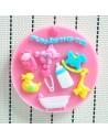Molde de silicona bebe con bañera