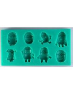 Molde silicona minions
