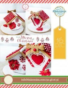 taller casita galletas 3d navideña